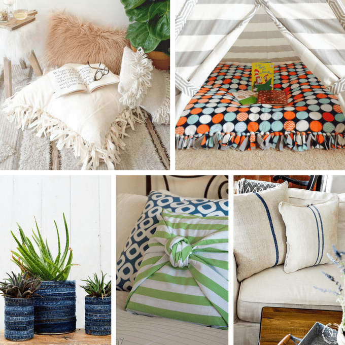 A Roundup Of 30 No Sew Crafts Including Accessories Home