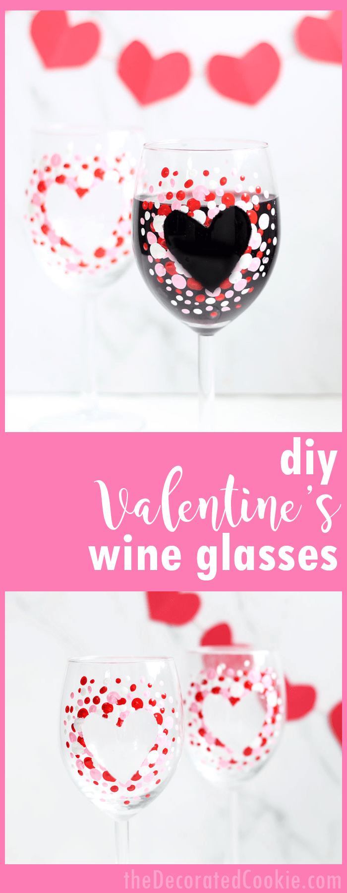 how to paint valentines day wine glasses a great diy valentines day gift idea