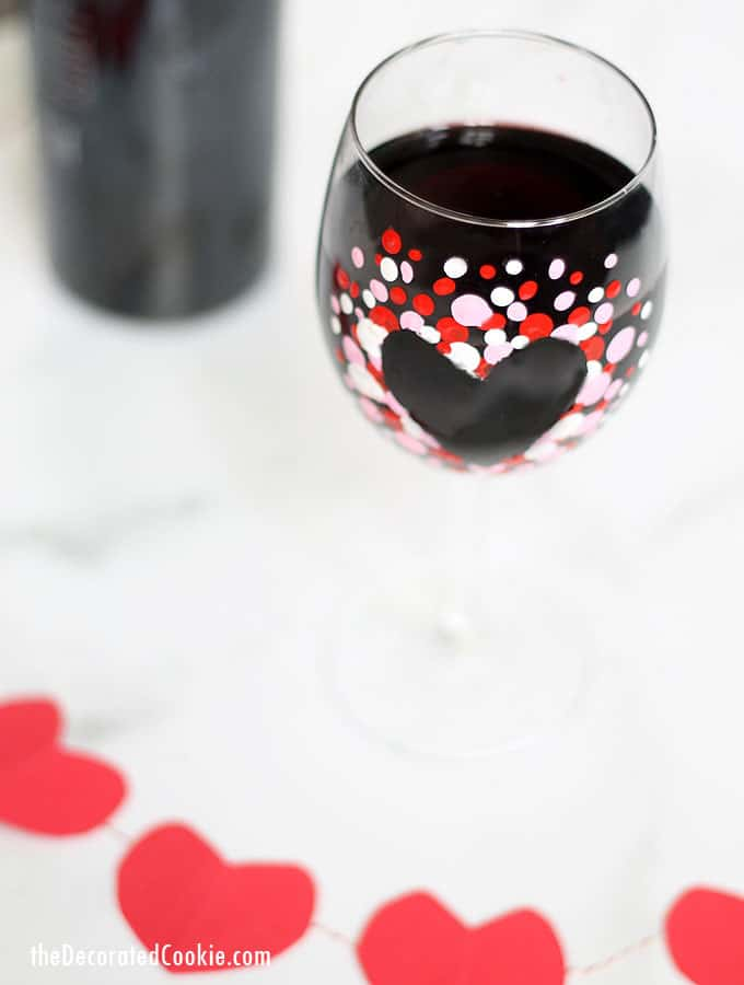 How To Make Hand Painted Valentine S Day Wine Glasses