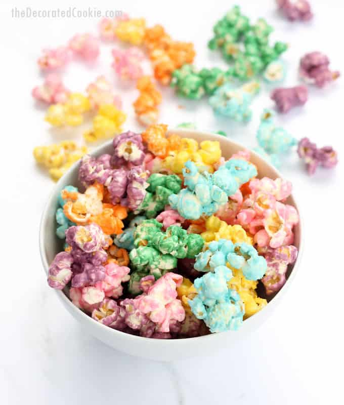 Colorful Candy Rainbow Popcorn For A Rainbow Or Unicorn