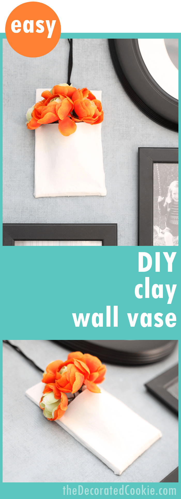 Diy Clay Wall Vase Easy To Make Creative Handmade Wall Decor