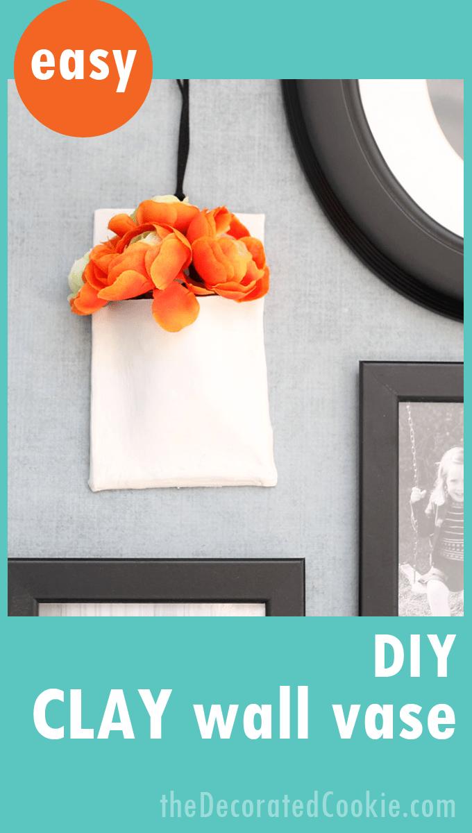 Diy clay wall vase easy to make creative handmade wall decor diy clay wall vase reviewsmspy