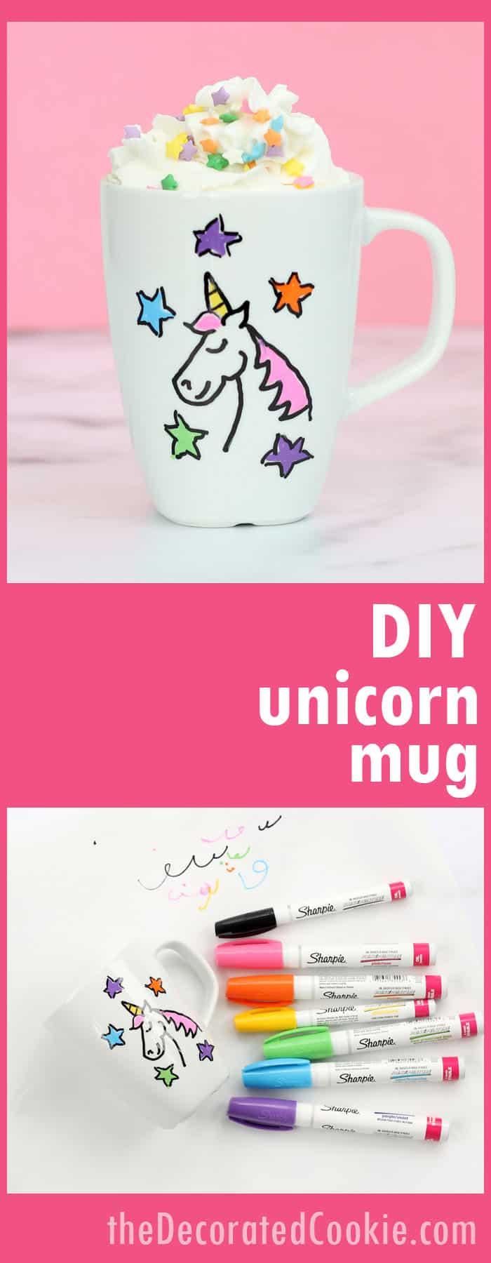 Diy Unicorn Mug A Dishwasher Safe Personalized Handmade Gift Idea