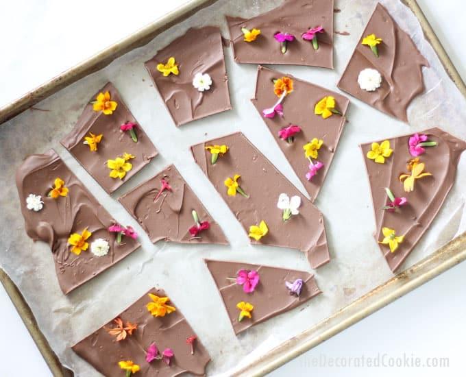 how to make edible chocolate twigs