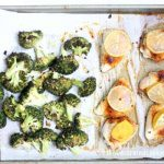 broccoli and lemon chicken sheet pan dinner