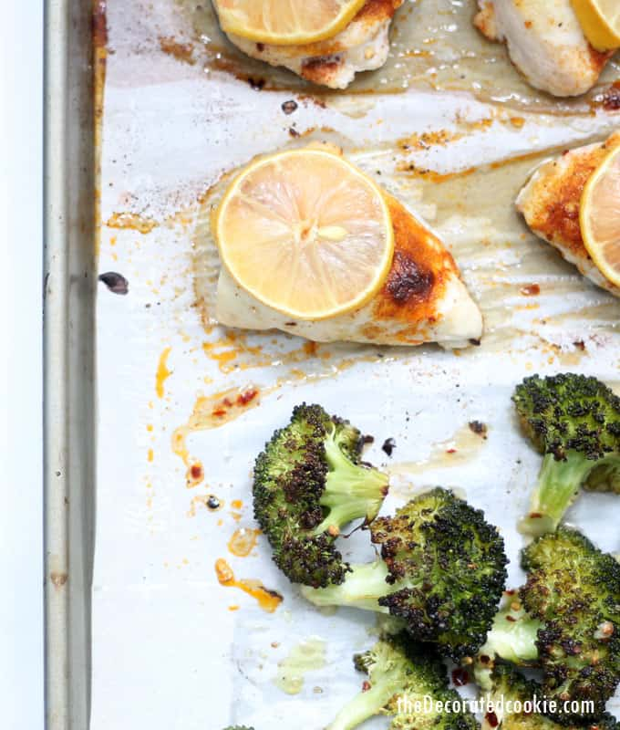 This easy lemon chicken sheet pan dinner with broccoli is delicious, full of flavor, and ready in under 30 minutes. It's low-carb, keto, whole 30, gluten-free, and an all around winner.