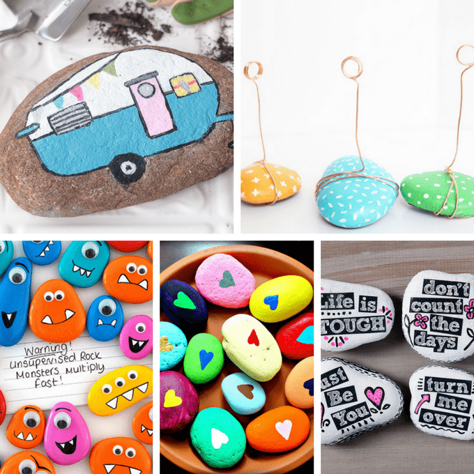A Roundup Of 30 Awesome Rock Painting Ideas Rockpainting Paintedrocks
