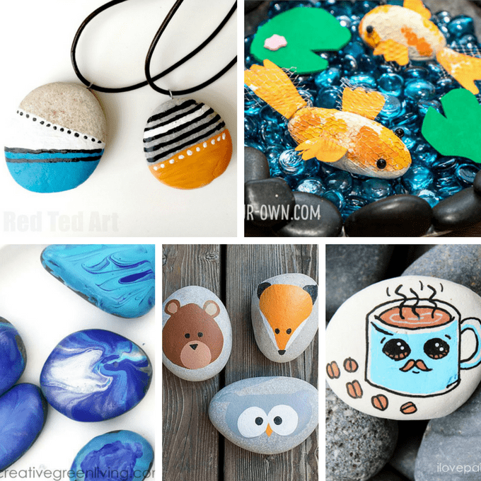 Rock Painting Ideas Roundup Of 30 Painting Ideas For Kids