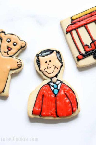 cookie decorating idea: Mr. Rogers' Neighborhood cookies