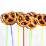 chocolate pretzel pops