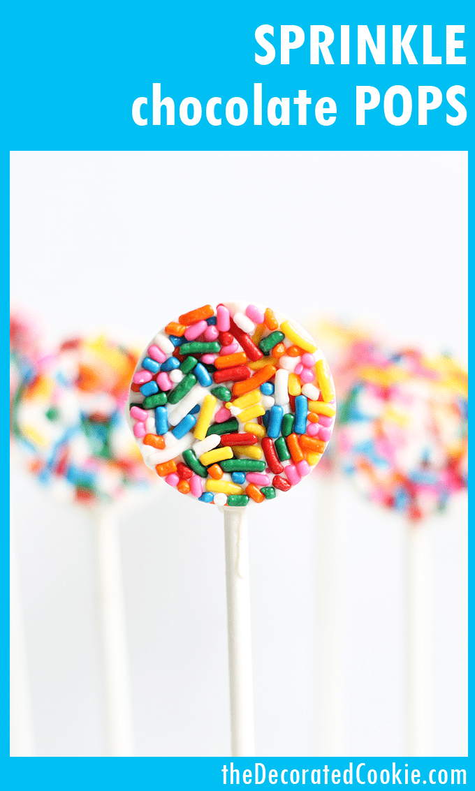 easy sprinkle chocolate pops