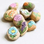 flower painted rocks