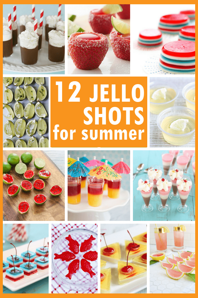How to make Jello shots for summer. A roundup of awesome summer Jello shots with summery flavors for your BBQ, pool party, or any summer party. #Summer #JelloShots #SummerParty