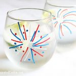 4th of July wine glasses