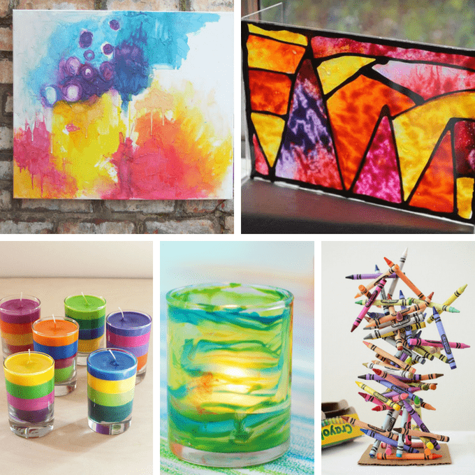 Crayon Art Crayon Crafts And Melted Crayon Art For Kids And Adults