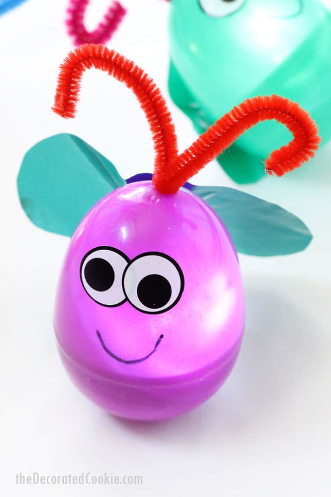 Easter egg firefly craft