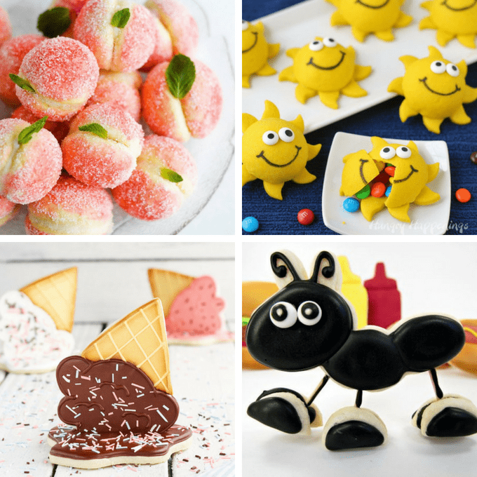 Summer cookies: A roundup of recipes, tutorials, and ideas for summer decorated cookies. #SummerCookies #cookiedecorating #DecoratedCookies