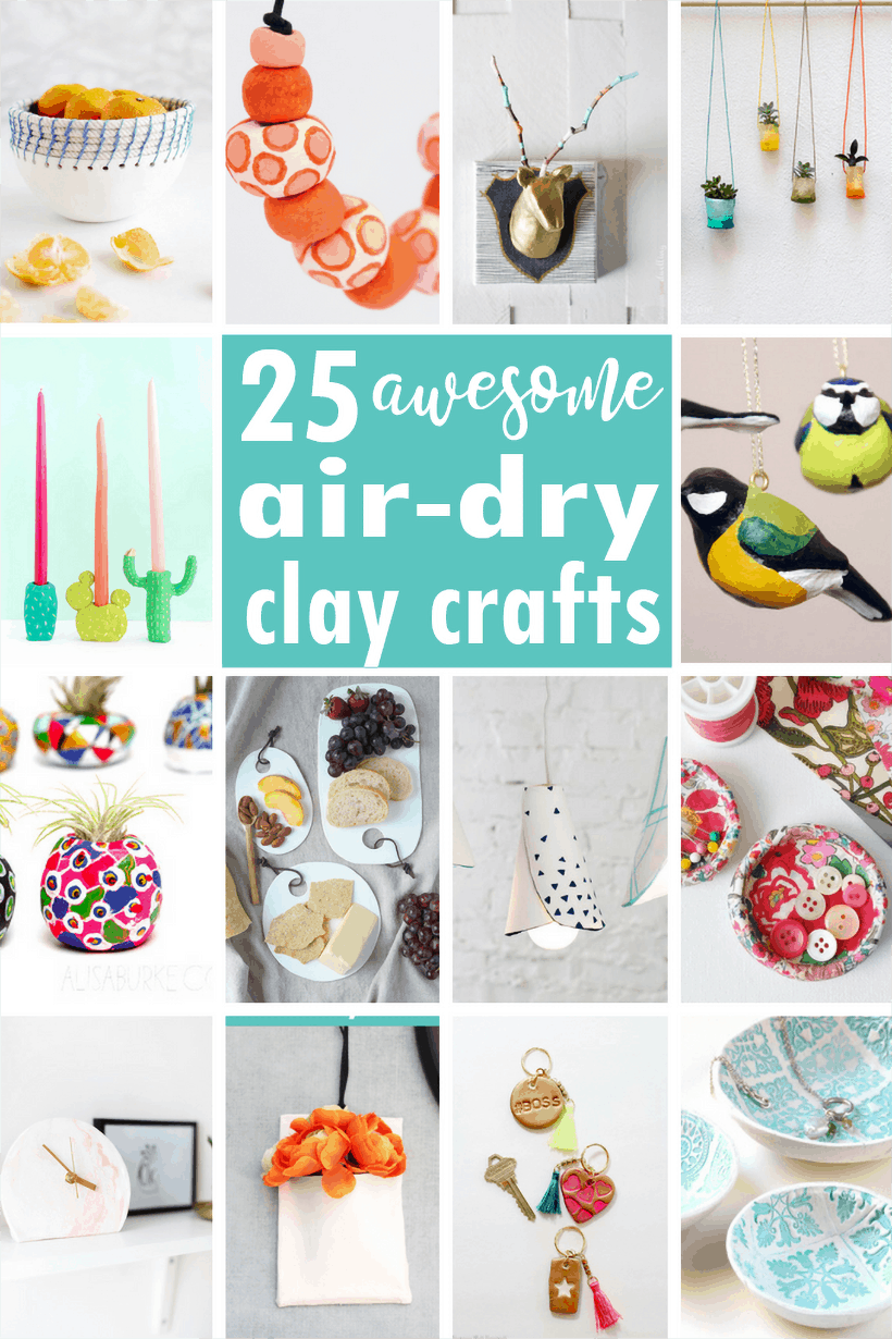 roundup of air-dry clay crafts