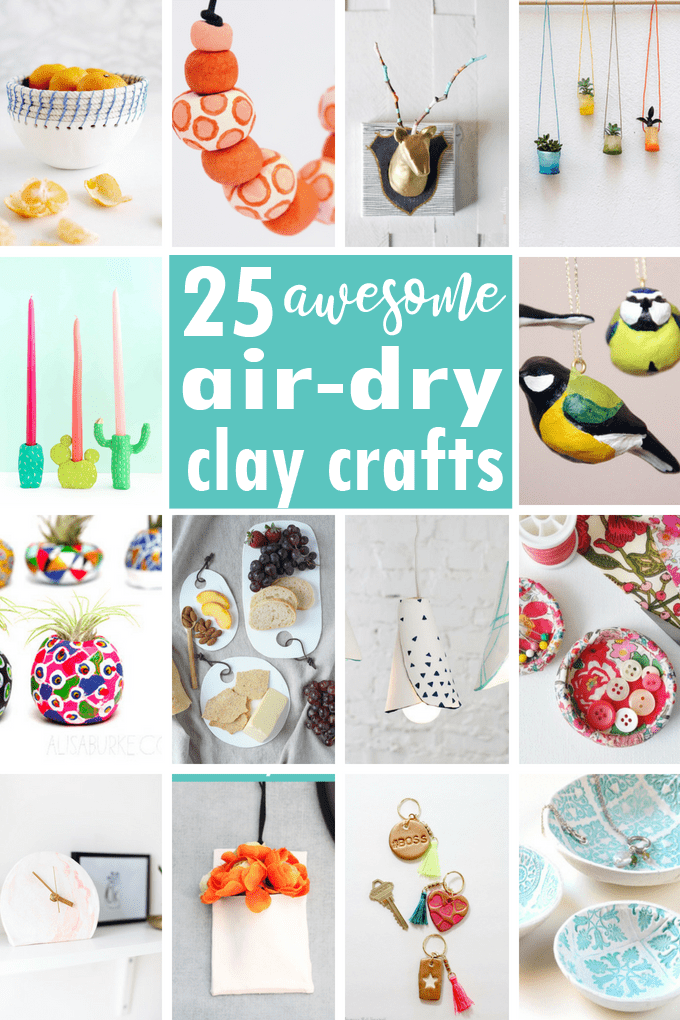 Clay craft ideas: A roundup of air-dry clay projects for adults, and information on types of clay, and polymer clay vs air-dry clay. #AirDryClay #PolymerClay #ClayCraft #adultcrafts