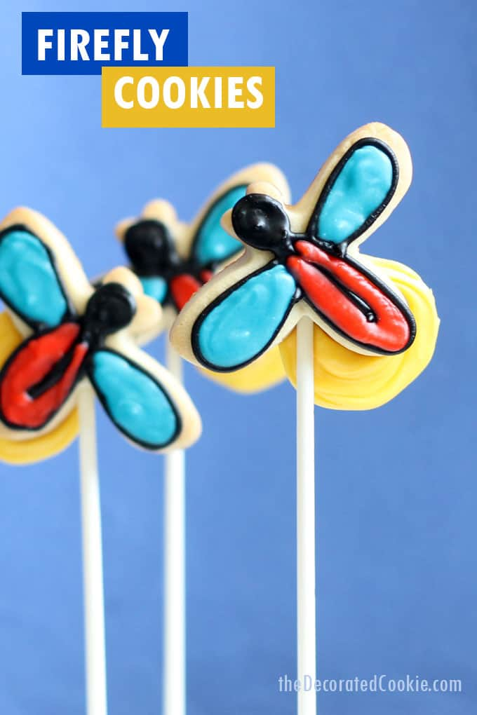 firefly cookies on a stick