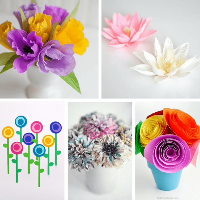 A roundup of 30 of the best paper flower tutorials! Gorgeous adult paper craft for home decor, gifts, party decorations, or bouquets. #PaperFlowers #DIY #AdultCrafts