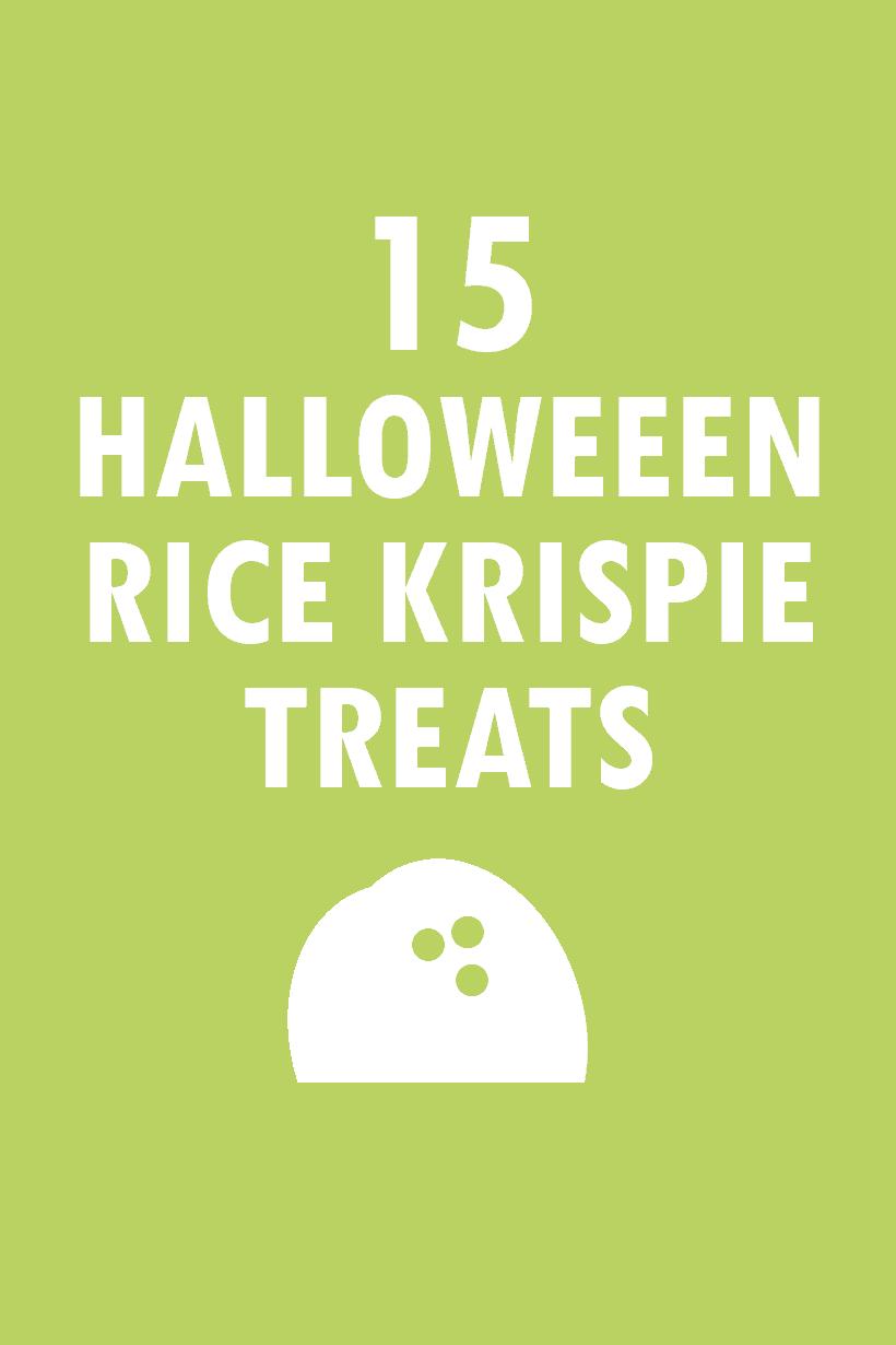 15 Halloween Rice Krispie Treats