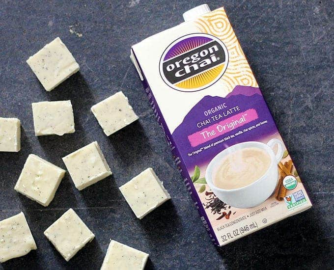 #Ad This CHAI TEA FUDGE has all the flavors of fall, with chai spices and black tea, but it is so easy to make in the microwave with only three ingredients. @Oregonchai #OregonChaiMeTime #Walmart #chaitea #fudge #easyfudgerecipe #threeingredient #chaitealatte #spicedfudge #falldessert