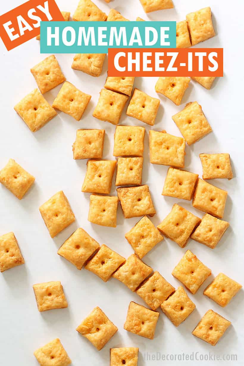 how to make homemade cheese crackers, or Cheezits