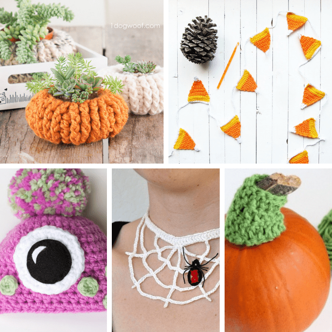 25 FREE crochet patterns for Halloween, with links to tutorials. These cute and spooky holiday crafts include accessories, home decor, and more. #halloween #freecrochetpatterns #crochet #patterns