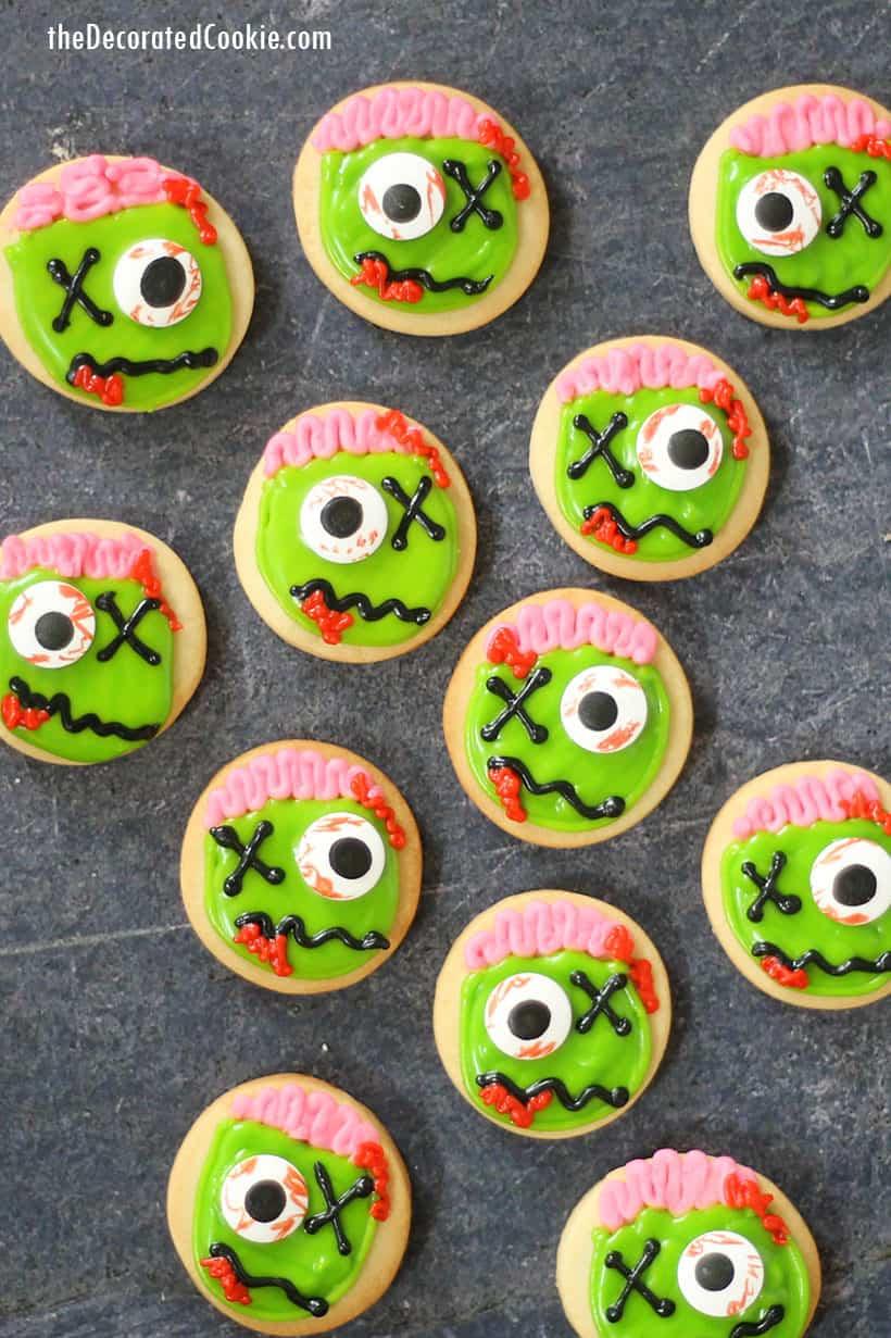 mini zombie cookies