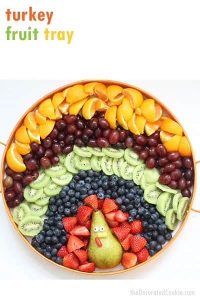 Fruit platter turkey for Thanksgiving