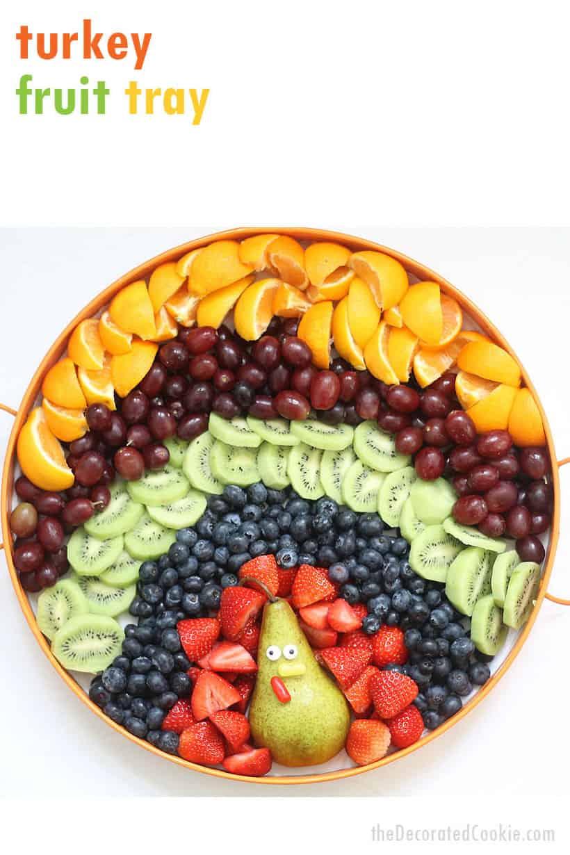 Fruit platter turkey for Thanksgiving