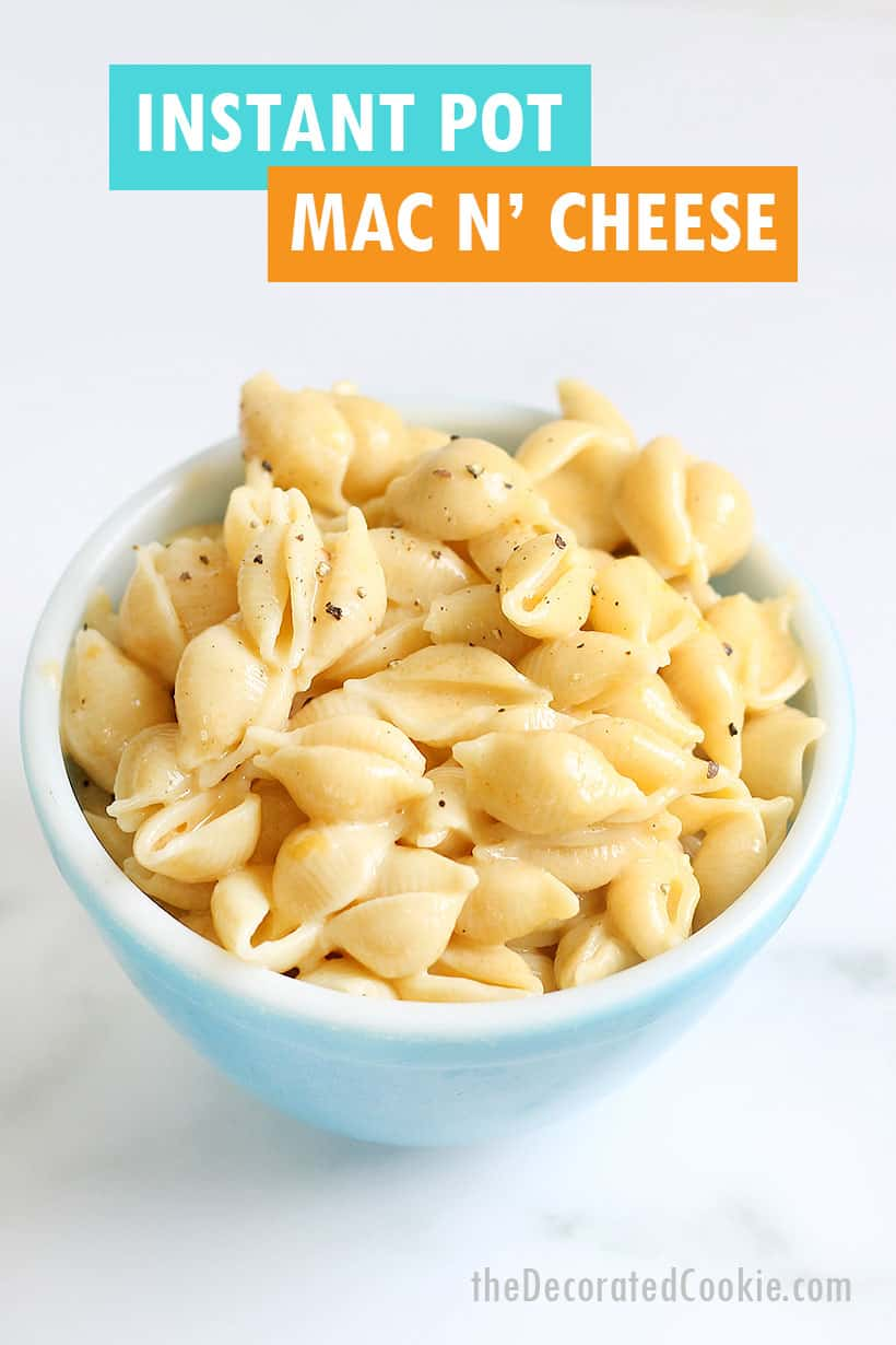 Instant Pot macaroni and cheese