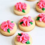 mini rose cookies