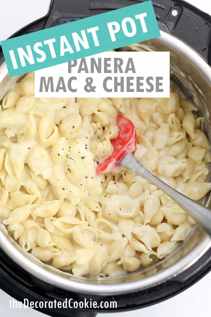 instant pot panera mac and cheese overhead view