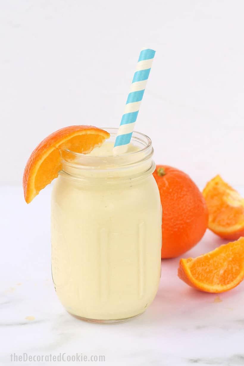 Healthy copycat version of orange julius smoothie