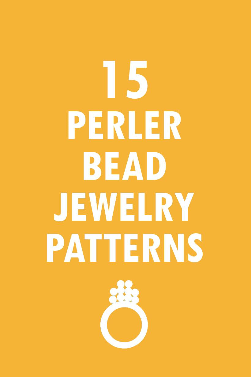 15 jewelry perler bead patterns