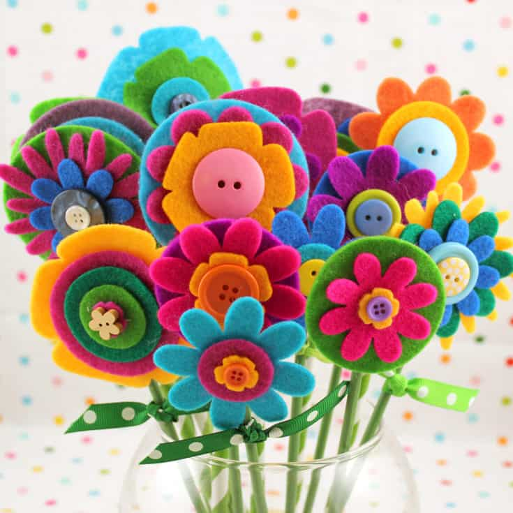 Felt flowers bouquet