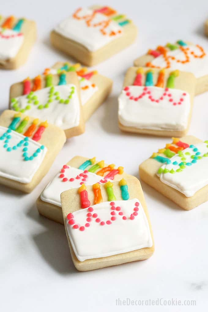 Superb Mini Birthday Cake Cookies Cute Decorated Cookie Idea Funny Birthday Cards Online Eattedamsfinfo