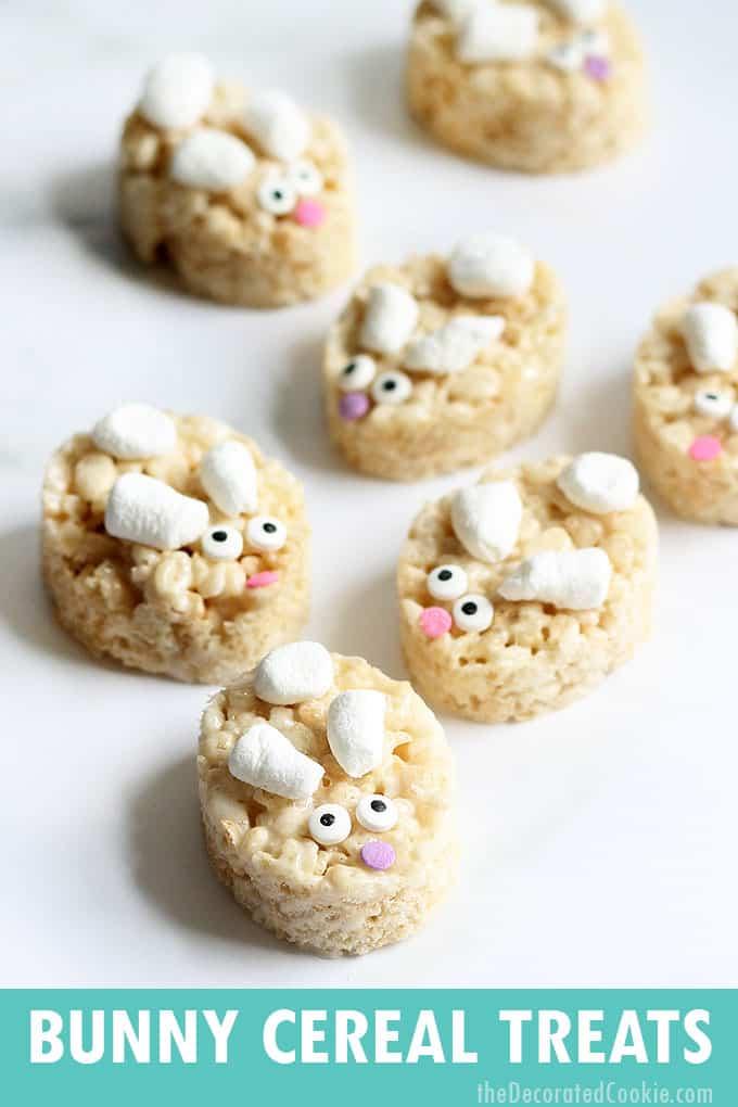 bunny rice krispie treats