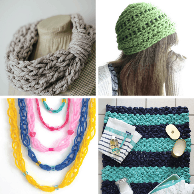 30 Finger And Arm Knitting Projects Free Patterns