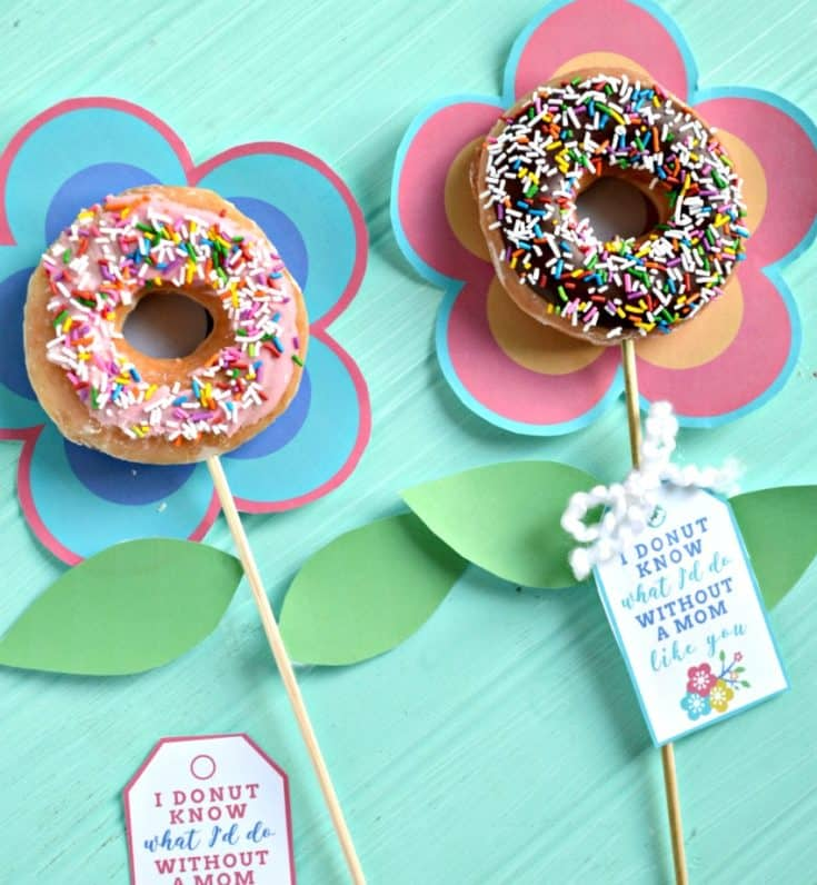 Mother's Day Flower Donut Bouquet