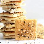HOMEMADE CRACKERS from pizza dough with Trader Joe's Everything but the bagel seasoning blend. Easy, delicious snack idea.