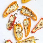 goat cheese mini stuffed peppers