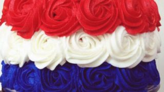 Patriotic Rose Cake
