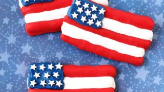 American Flag Pretzels