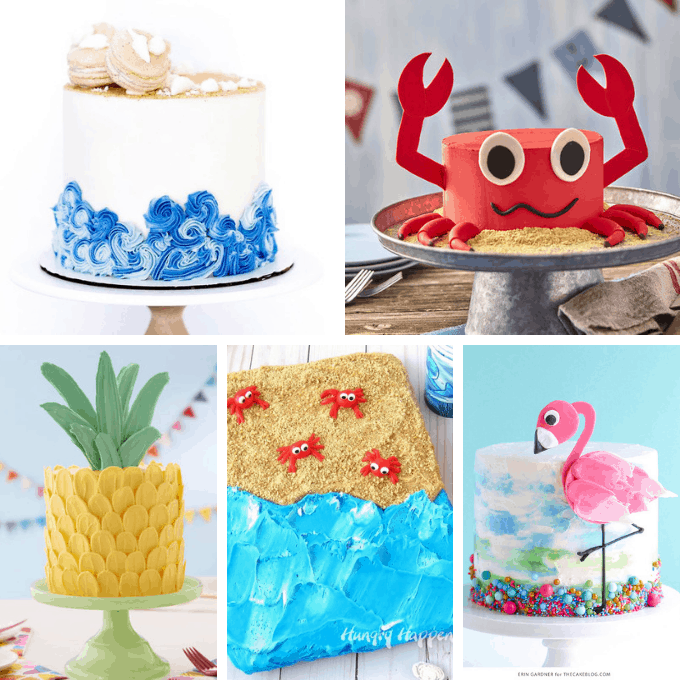a roundup of fun summer cakes