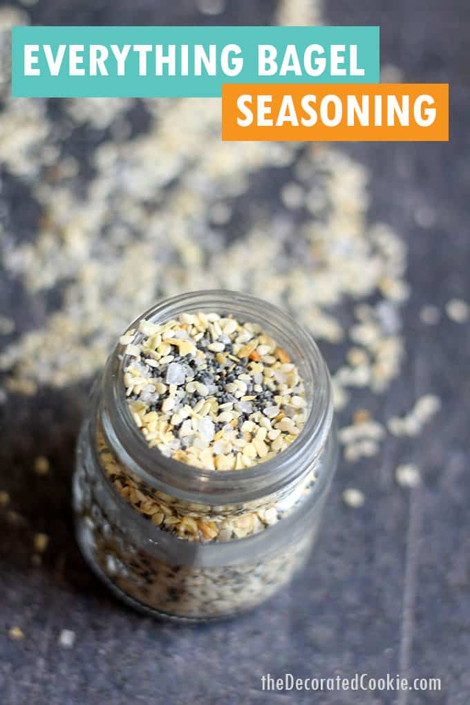 jar of everything bagel seasoning