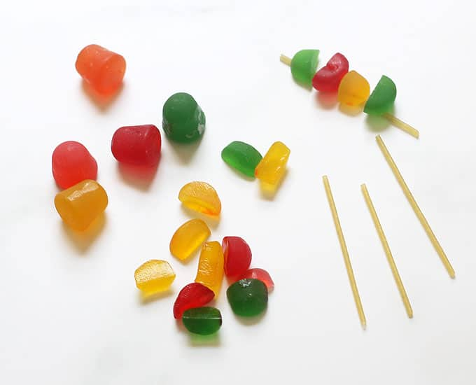 "DOTS candy ""kebabs"""