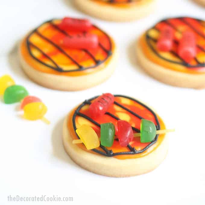 close-up image of BBQ grill summer cookies